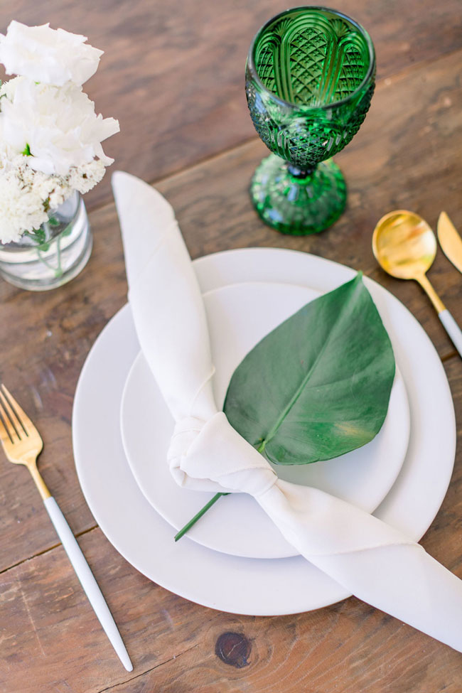Tropical Baby Shower Place Setting