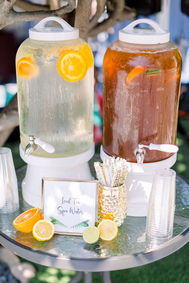 Wild One Tropical Baby Shower Beverage Station