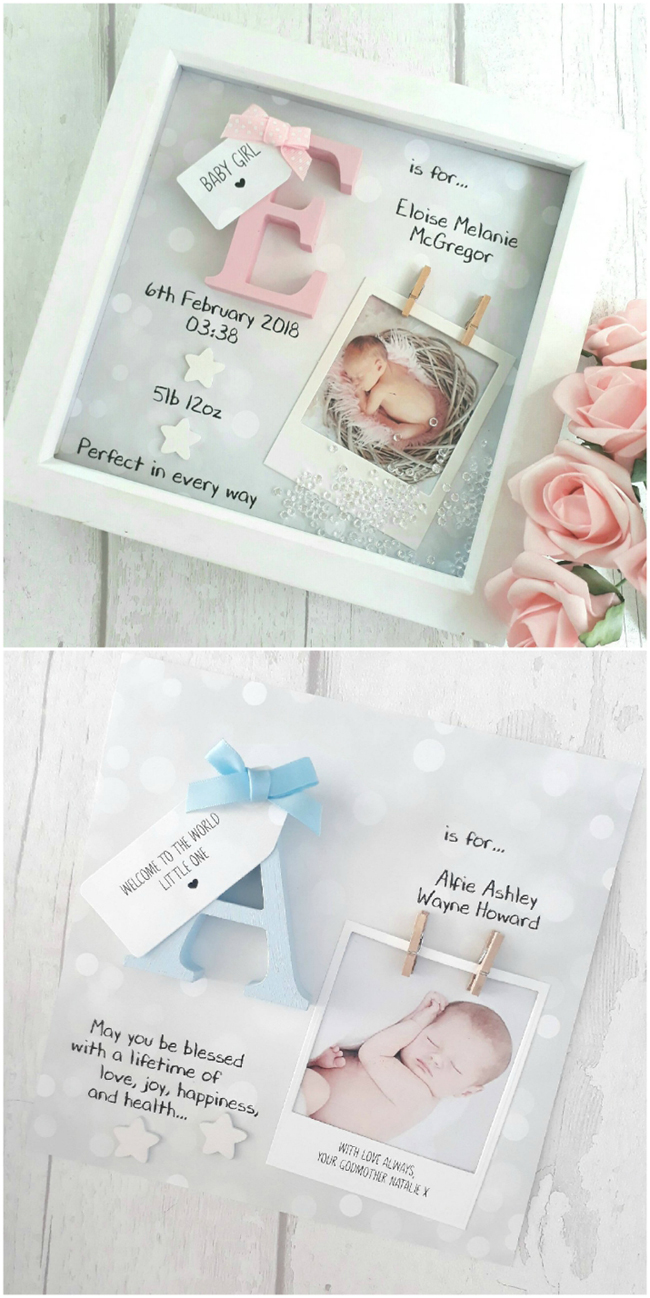 Baby Shadow Box Idea
