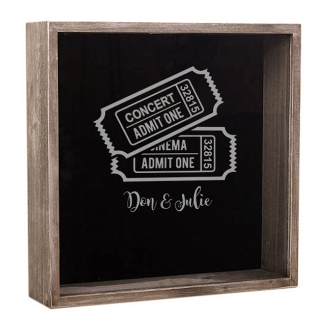 Concert Ticket Holder Shadow Box