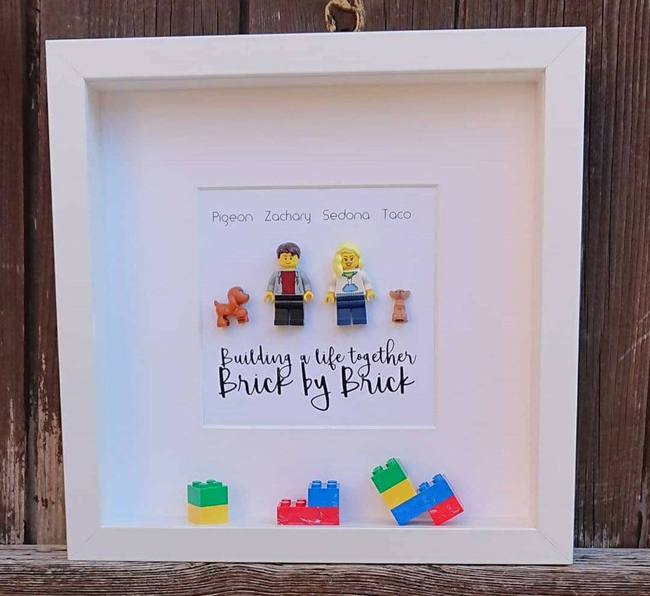 Lego Family Shadow Box