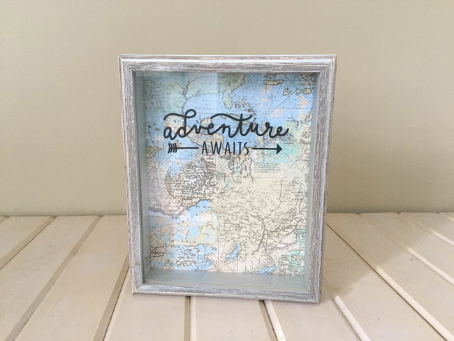 Travel Shadow Box Idea