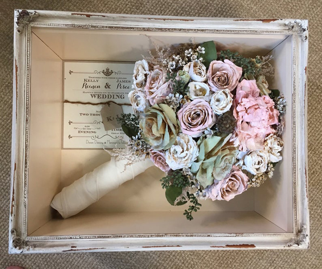 Wedding Bouquet Shadow Box Idea