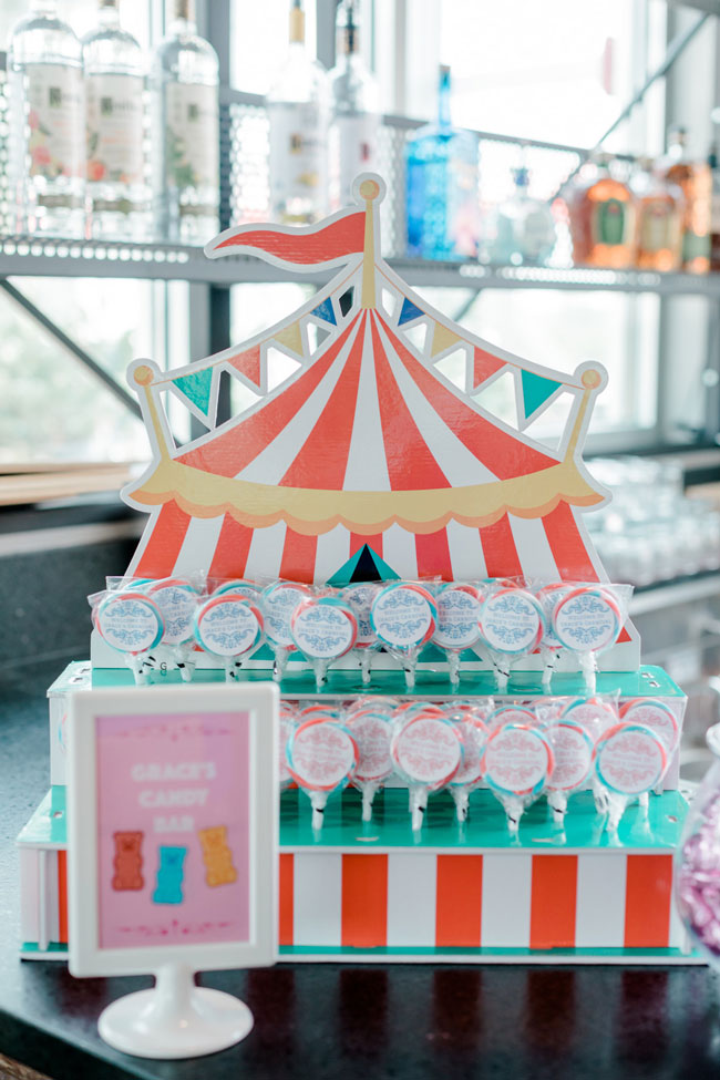 Carnival Party Big Top Lollipop Holder
