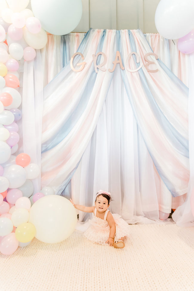 Pastel Carnival Party Photo Booth Backdrop