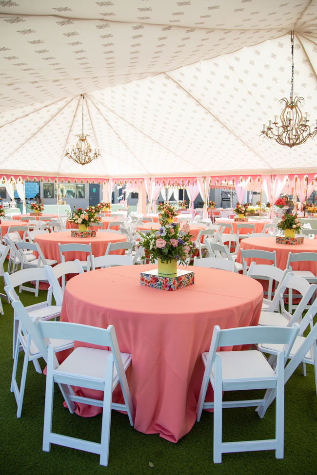 Floral Themed Party Tables