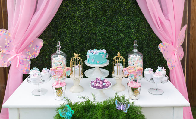 Pastel Butterfly Themed Birthday Party