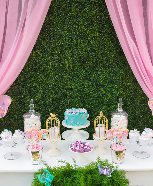 Butterfly Dessert Table