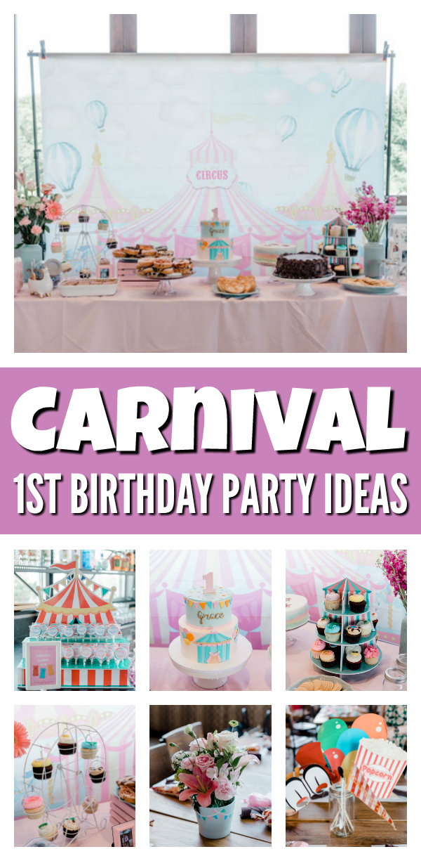 Carnival First Birthday Party on Pretty My Party