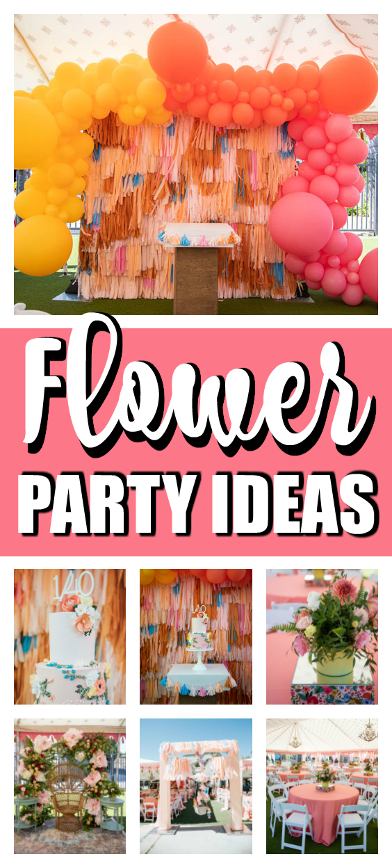 Colorful Floral Birthday Party Ideas on Pretty My Party