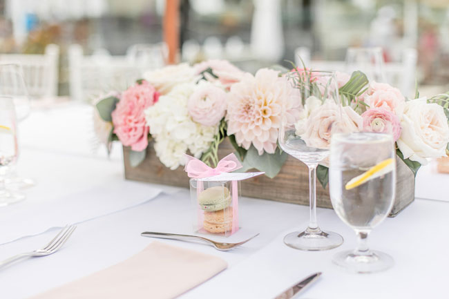 Pink Flower Centerpieces