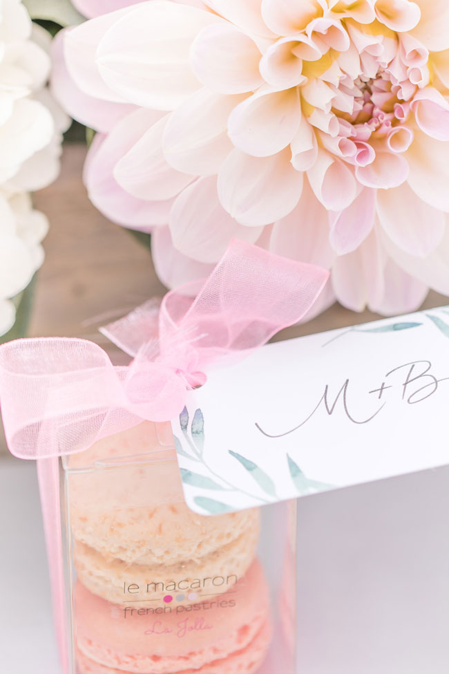 Macaroon Bridal Shower Favors