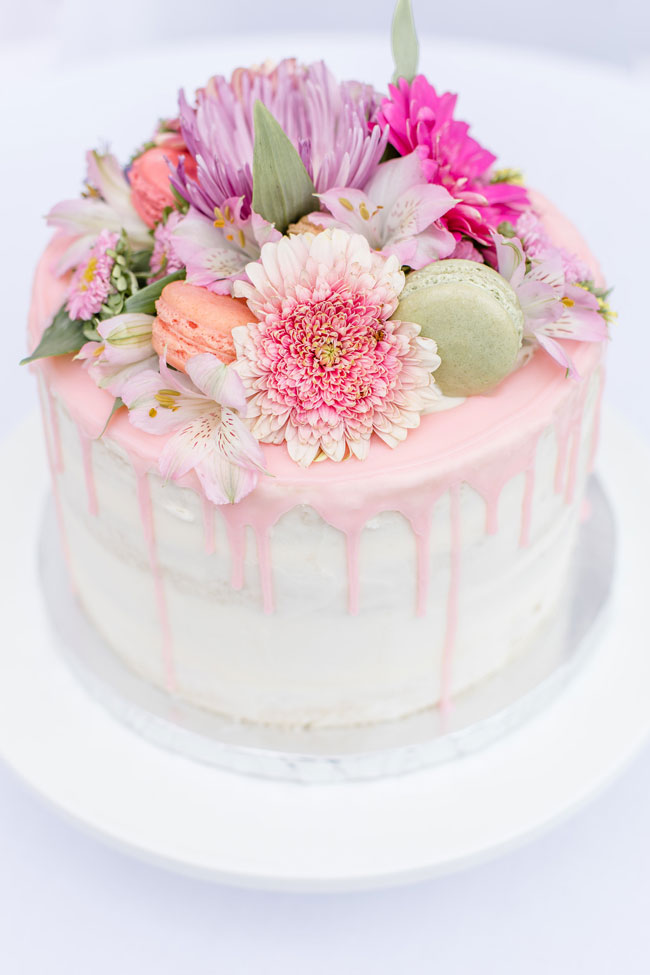 Flower Bridal Brunch Cake