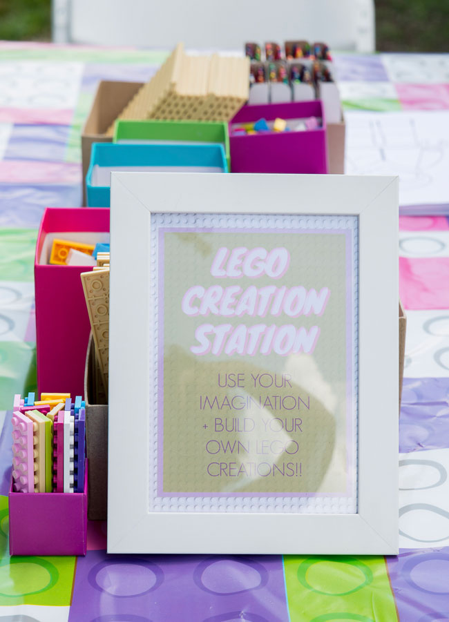 Lego Creation Station Sign