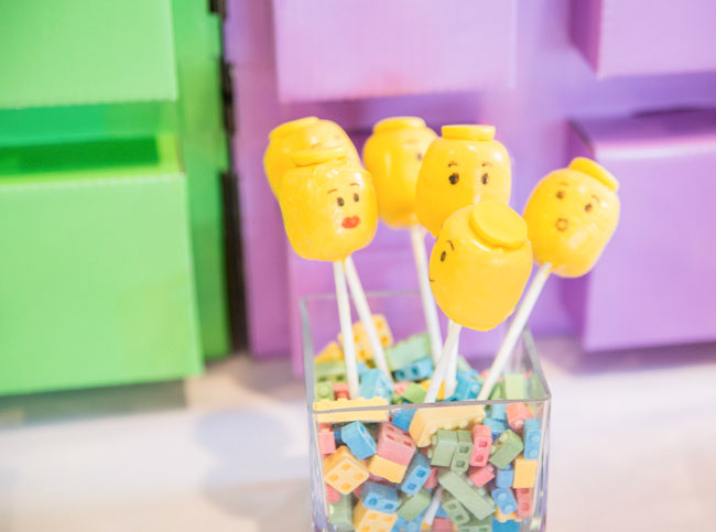 Yellow Lego Cake Pops