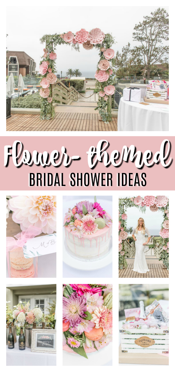 Flower Themed Bridal Shower Brunch on Pretty My Party