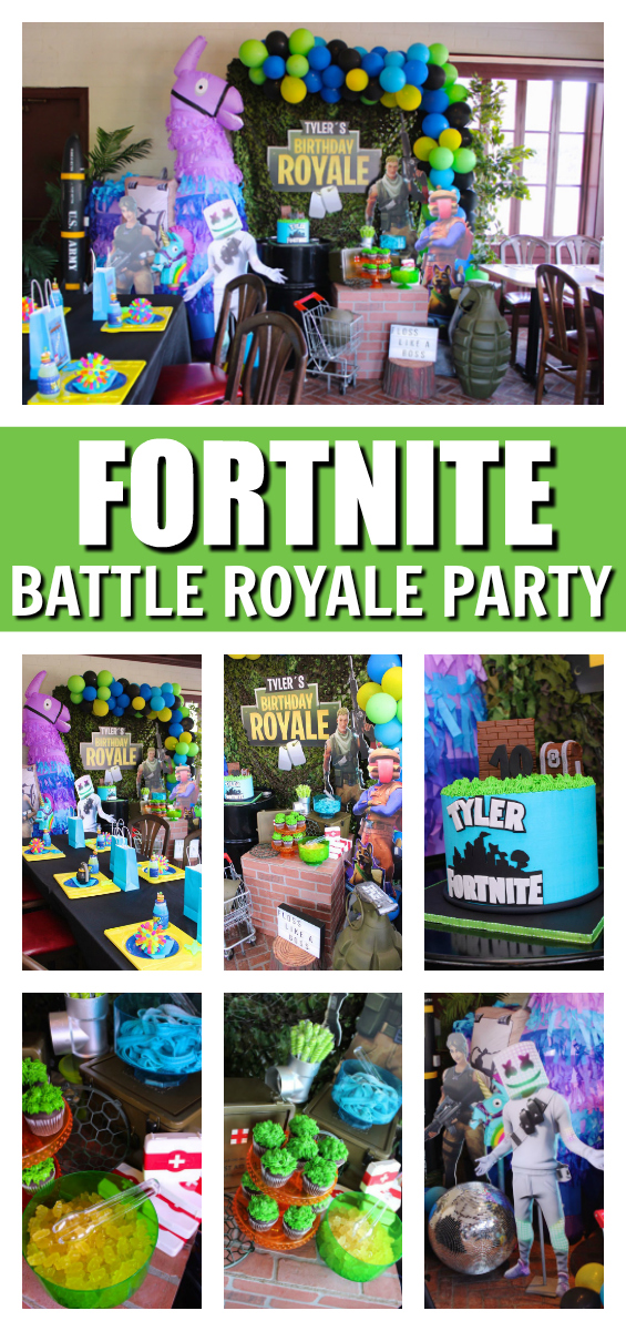 Epic Fortnite Battle Royale Party on Pretty My Party