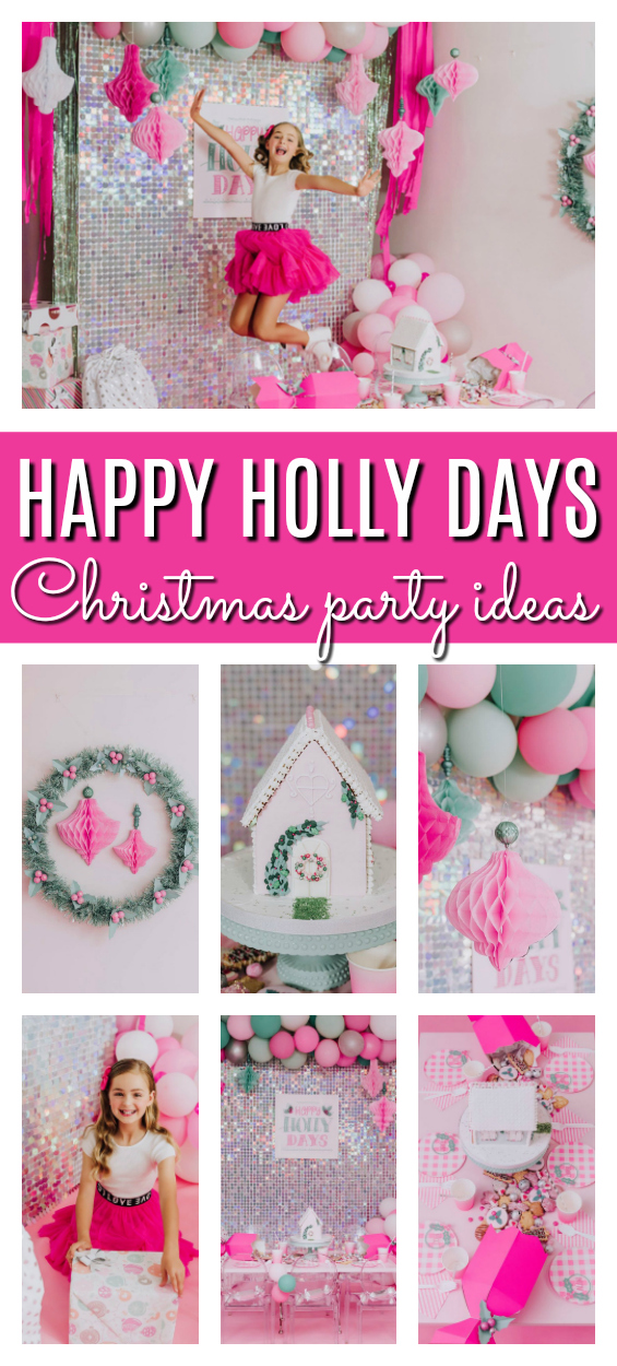 Happy Holly Days Christmas Party on Pretty My Party