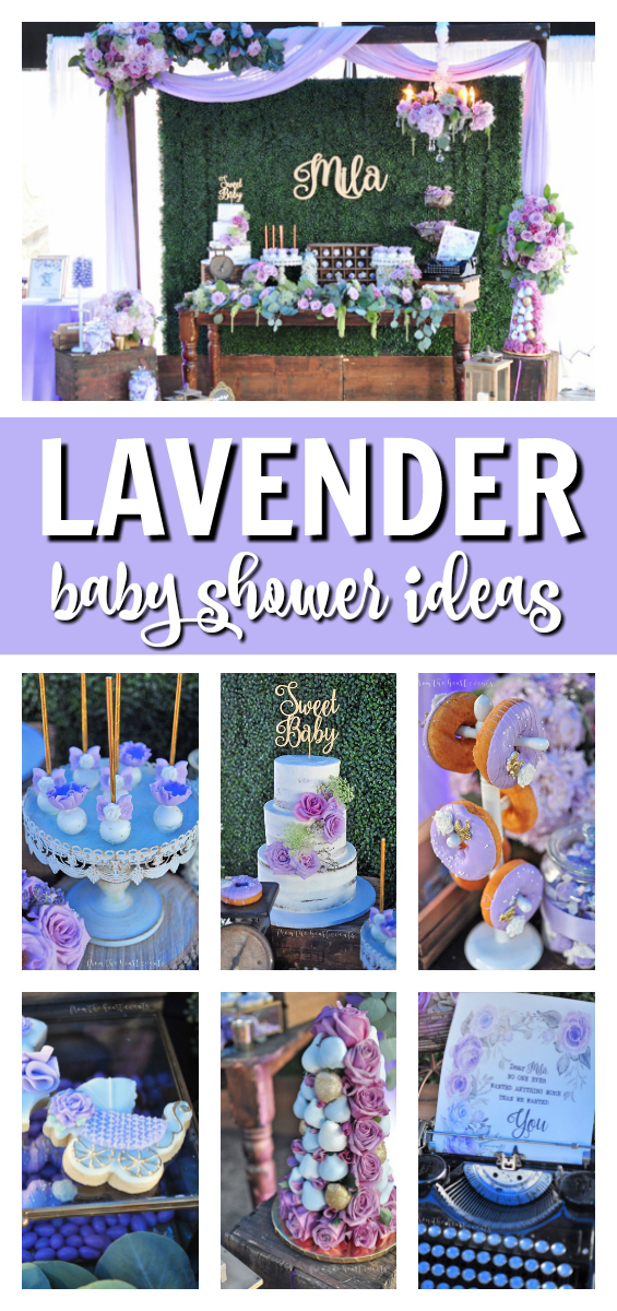Lavender Baby Shower Ideas on Pretty My Party