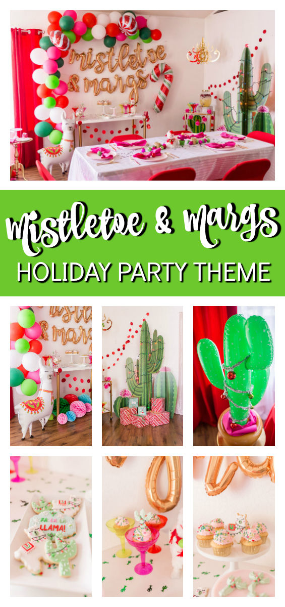 Mistletoe and Margaritas Holiday Party on Pretty My Party