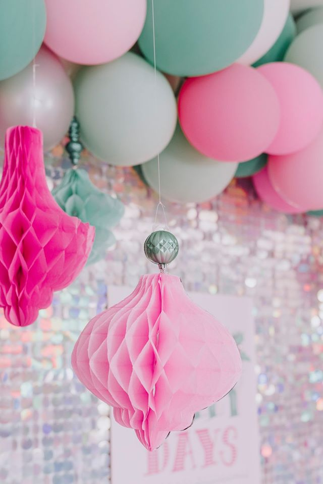 Pastel Holiday Party Decor