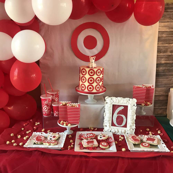 Target Themed Dessert Table