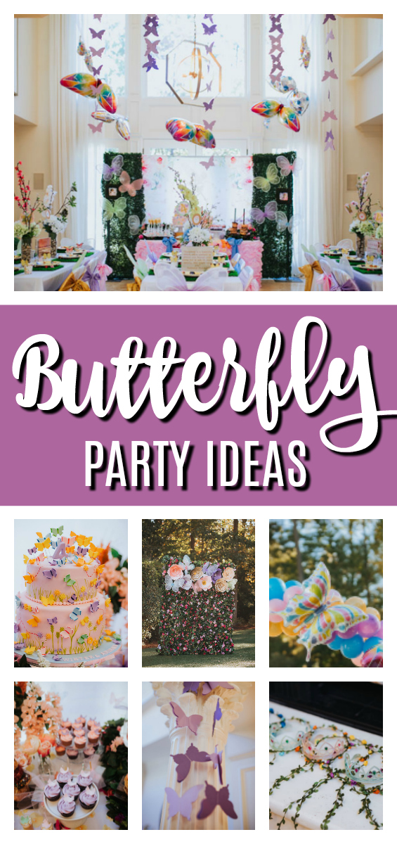 Whimsical Butterfly Birthday Party on Pretty My Party