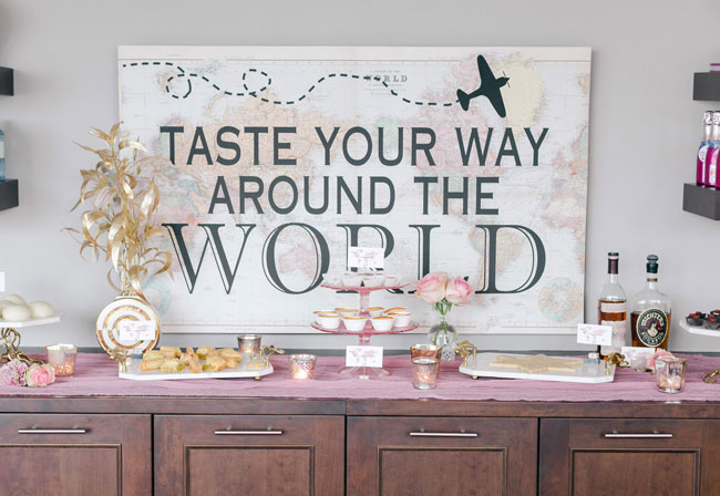 Around the World Baby Shower Backdrop