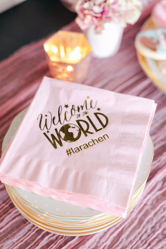 Pink Welcome To The World Napkins