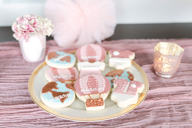 Around the World Baby Shower Cookies