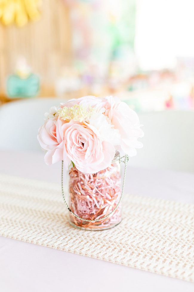 Pink Flower Table Centerpiece