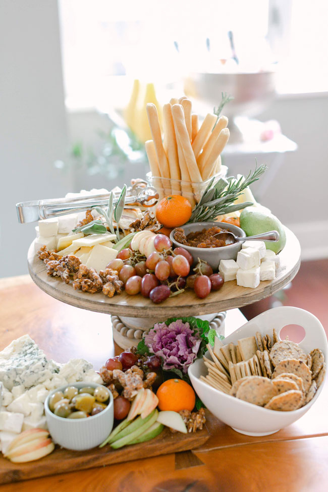 Around the World Baby Shower Cheese Tray