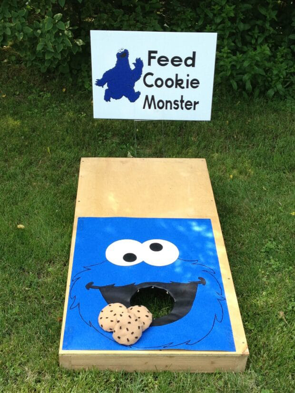 Cookie Monster Cornhole Party Game
