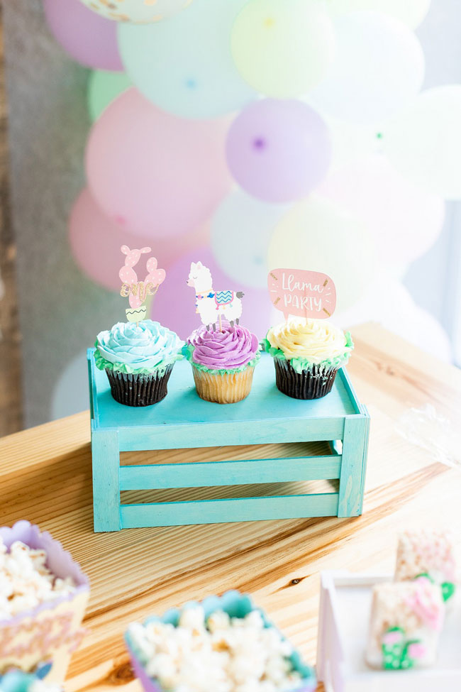 Llama and Cactus Cupcake Toppers