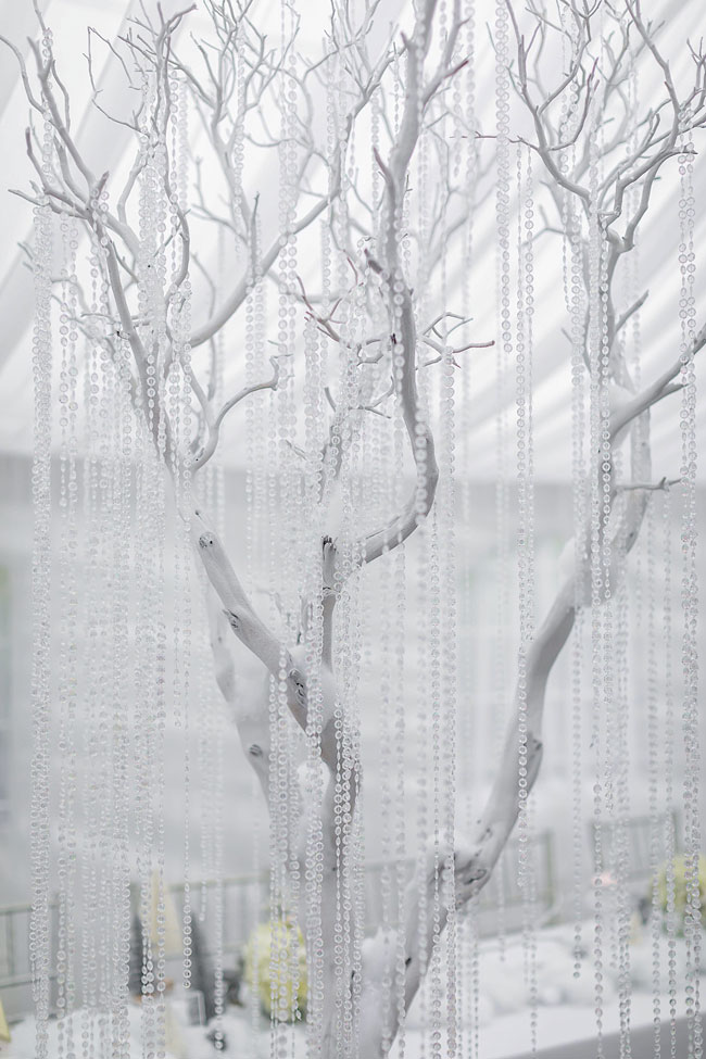 Silver Trees With Crystals