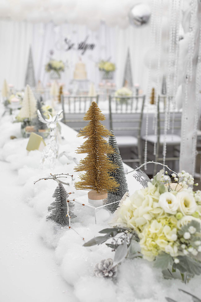 Girls Winter ONEderland First Birthday Centerpieces