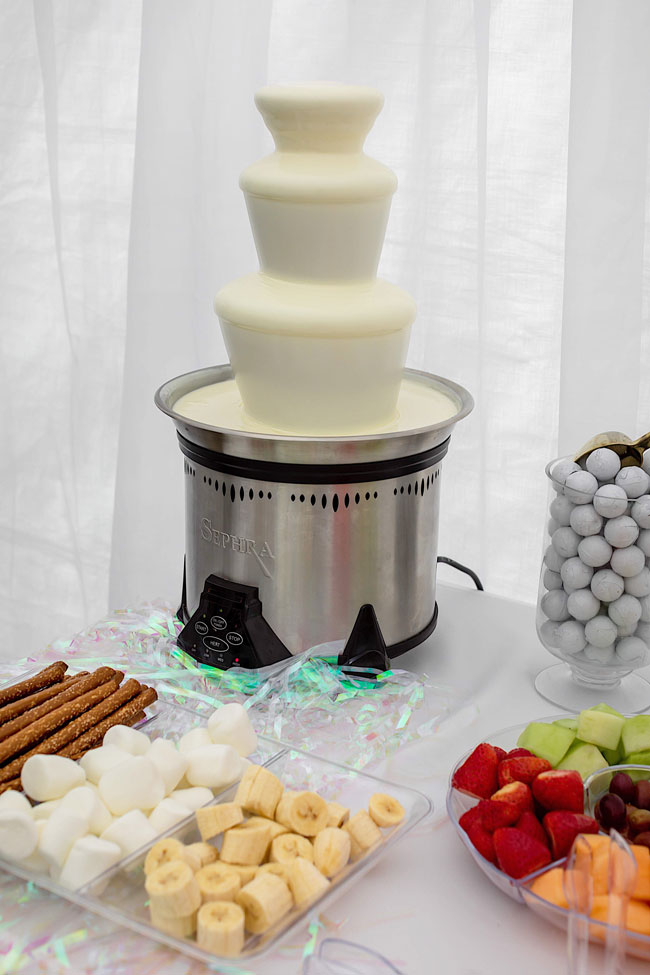 White Chocolate Fondue Fountain