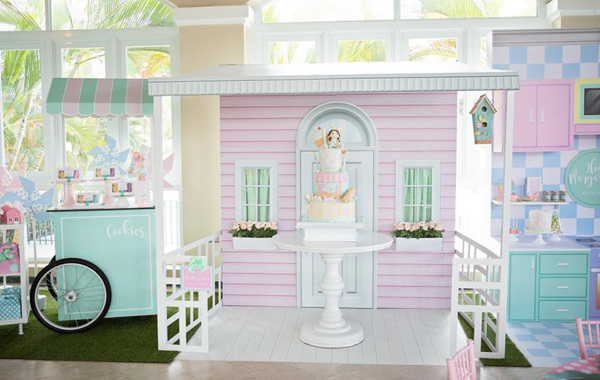 Pastel Dollhouse and Pastry Shop Party Ideas