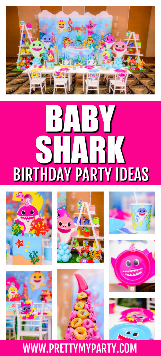 Colorful Baby Shark Birthday Party on Pretty My Party