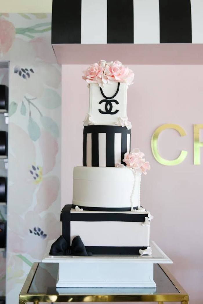 Gorgeous Chanel Birthday Cake