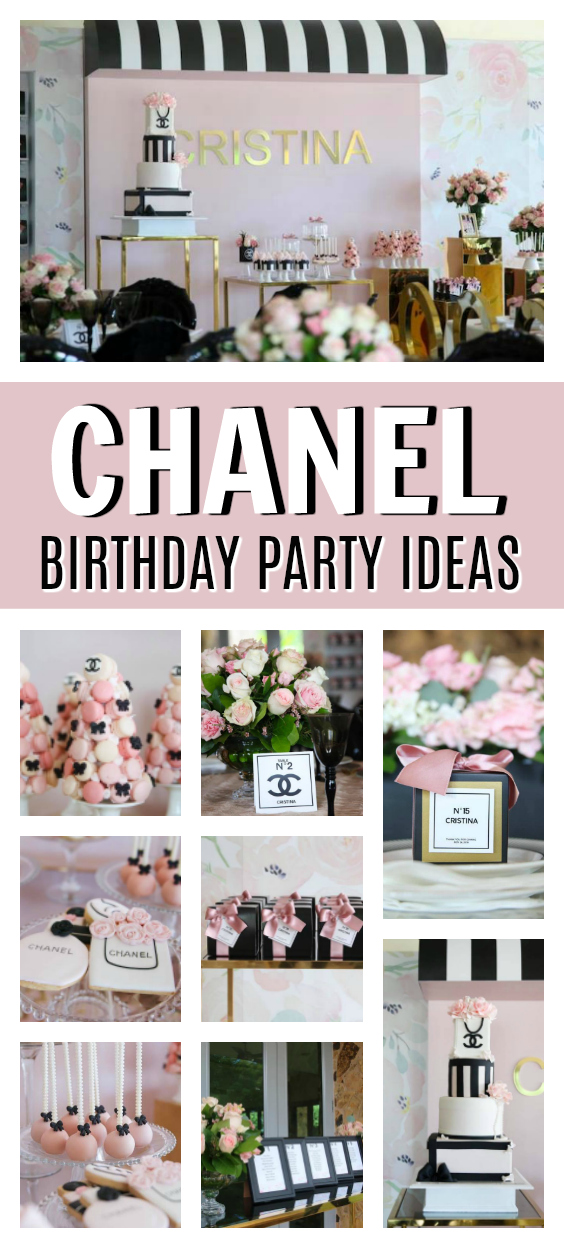 Chanel Themed 15th Birthday Party on Pretty My Party