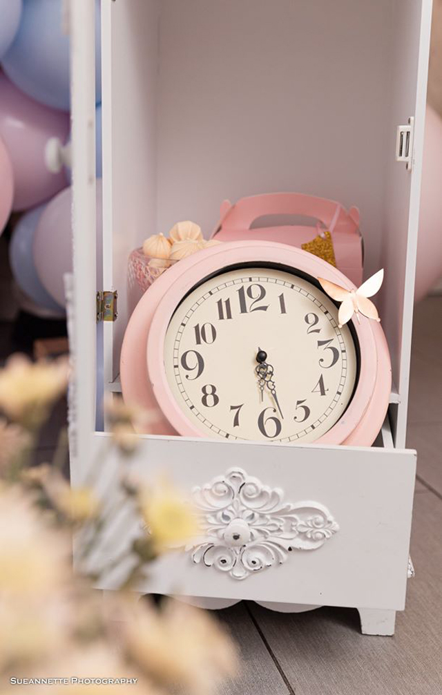 Pink Clock Decoration