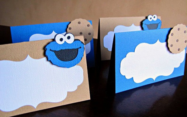 Cookie Monster Food Tent Cards