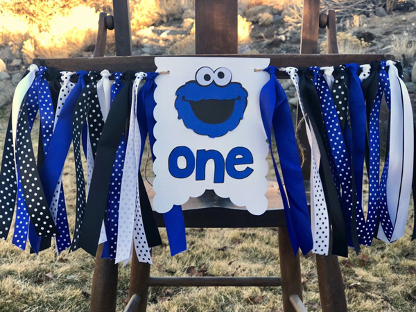 Cookie Monster High Chair Banner