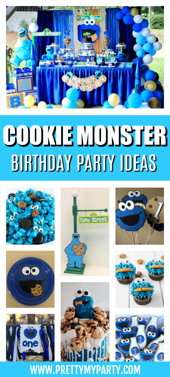 Cookie Monster Party Ideas on Pretty My Party