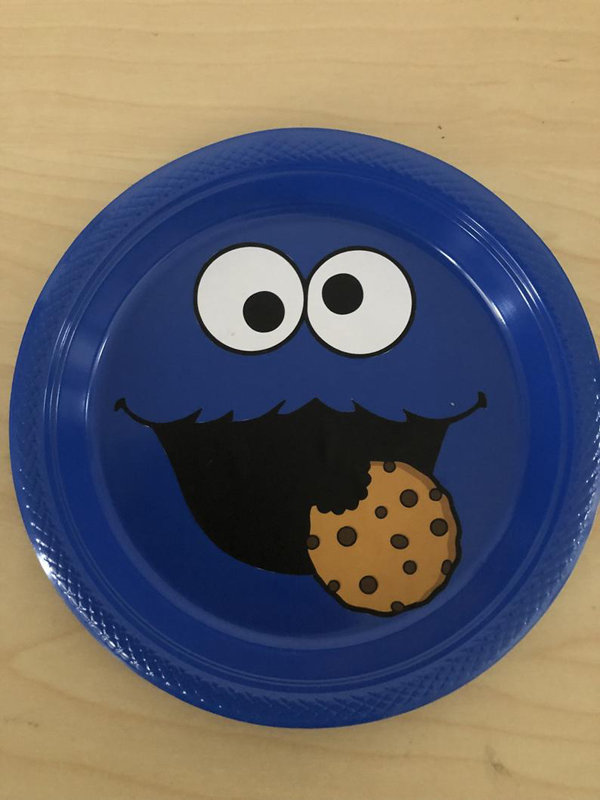 Cookie Monster Party Plate
