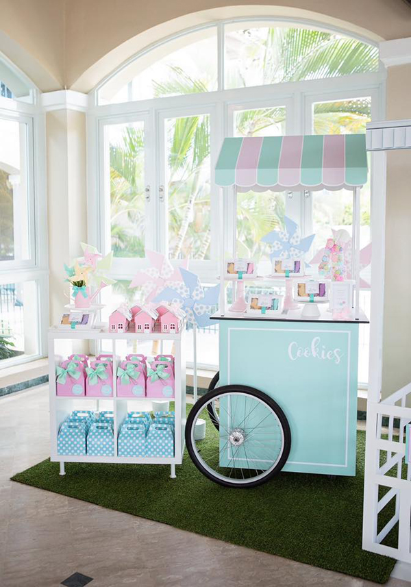 Dollhouse and Pastry Shop Party Decor