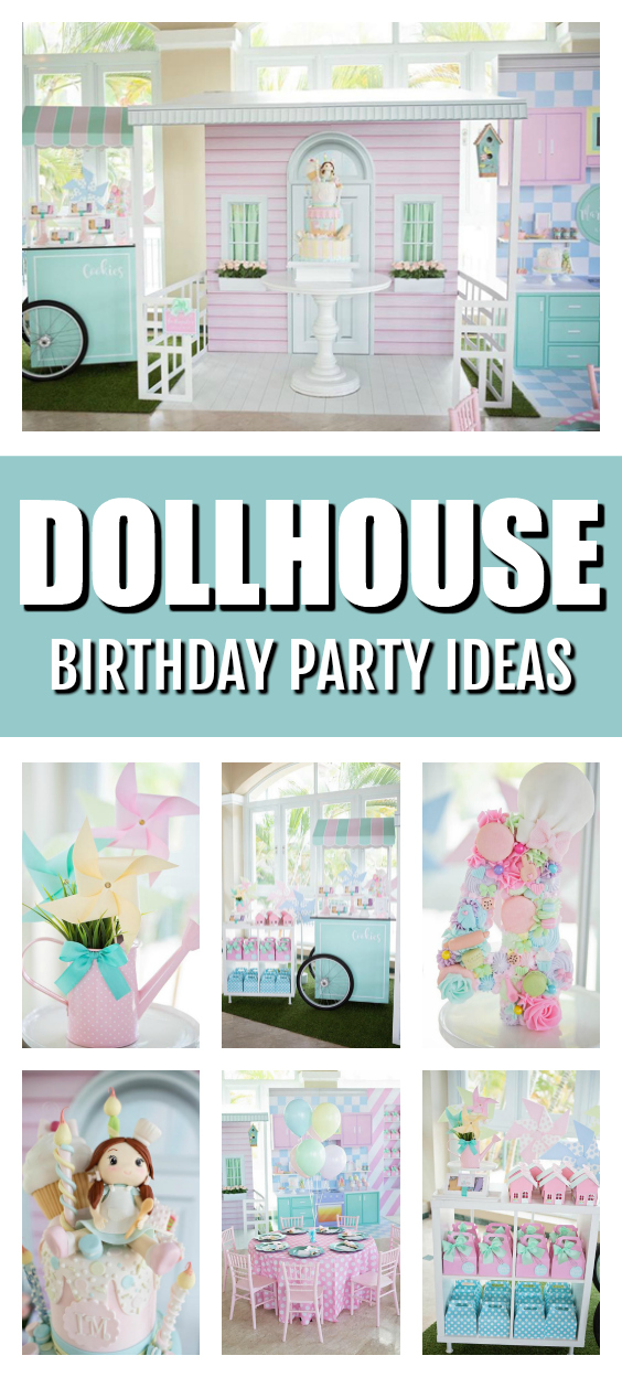 Pastel Dollhouse Themed Birthday Party on Pretty My Party