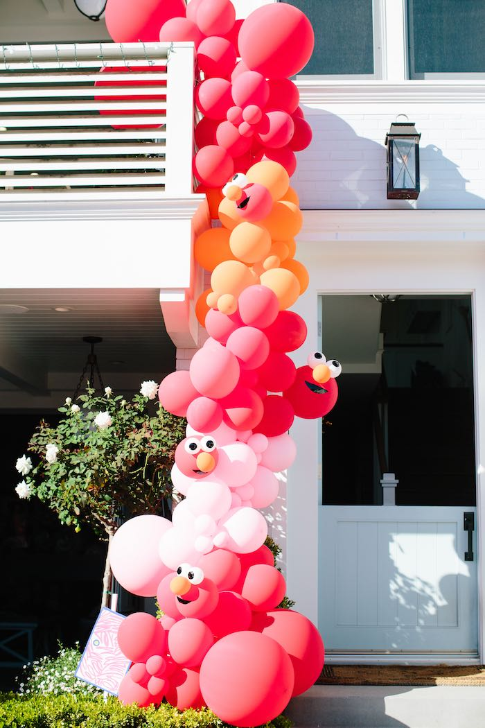 Elmo Balloon Garland Decoration