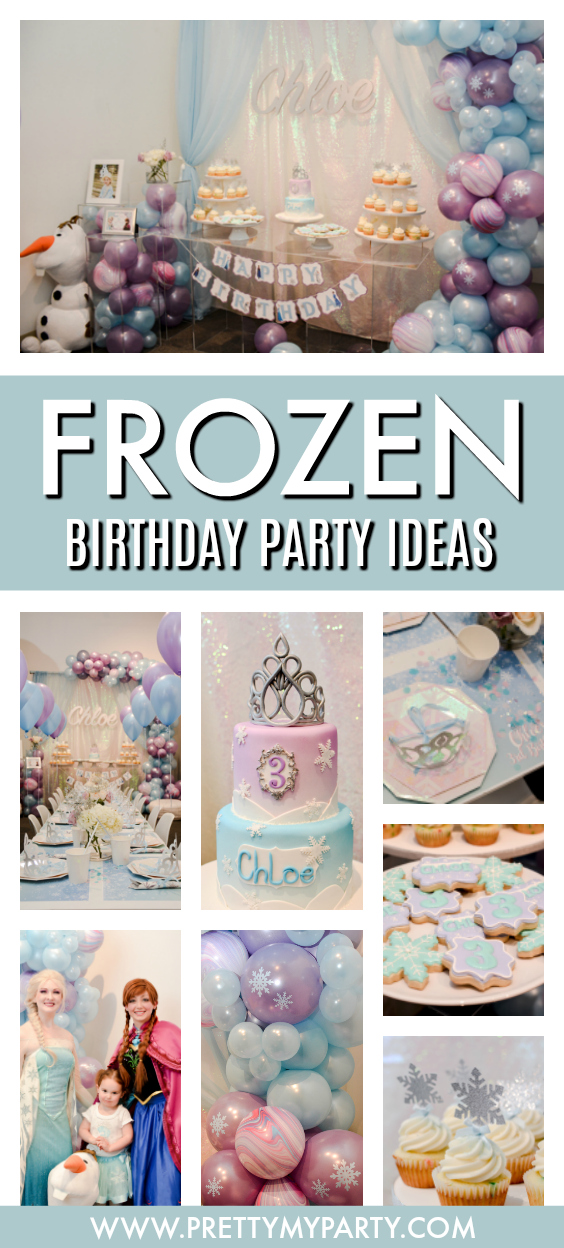 Disney Frozen Themed Birthday Party on Pretty My Party